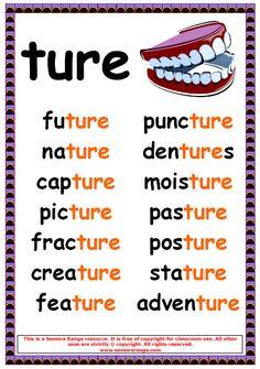 Phonics poster to show ture words. Phonics Chart, Phonics Rules, Spelling Rules, Phonics Lessons, Phonics Worksheets, Phonics Reading, Teaching Phonics, Teaching Reading, Jolly Phonics Activities
