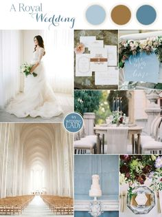 Rich Shades of Blue and Bronze for A Modern Fairy Tale Wedding Inspired by The Royal We!