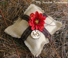 Ring Bearer Pillow Rustic Winter Wedding by MinSvenskaLandgard, $29.00