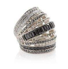 This Henri Bendel Dynasty ring ($198) is the sparkliest kind of cocktail ring