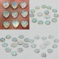 Buy DIY White Resin Heart flatback Scrapbooking for phone/wedding/craft at Home - Design & Decor Shopping Home Design Decor, Wedding Crafts, Resin, Projects To Try, Bling, Jewels, Crafty, Scrapbooking, Beads