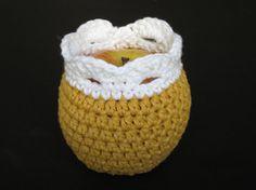 Crochet Basket Apple Cozy Sweater Cover by JensKozyKnits on Etsy, $7.99