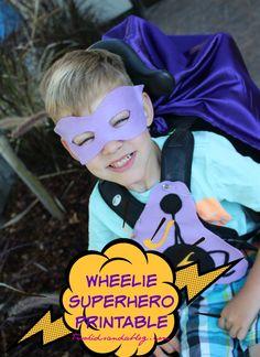 Wheelie Superhero Printable - Two Kids and a Blog