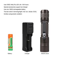 The Original 900 Lumen Ultra Bright, LED 5 Mode Flashlight  lanterna Torch Waterproof led flashlight  #Affiliate