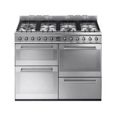 Smeg Symphony 110 Dual Fuel Stainless Steel Range Cooker