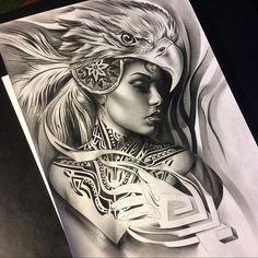 Aztec styled drawing of @teya_salat 🔥🔥🔥 love the neck tattoo! 💉💉 #tattoospooky #sullen #sullenangels #artofvisuals #art_spotlight #artcollective #arts_help #artgallery #artnerd #artsanity #spotlightonartists #sketch_daily #proartists #pencil #graphite #work #worldofpencils #artistdrop #aztec #create