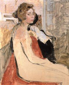 Edouard Vuillard (1868-1940) - Le Modèle, 1903, huile sur toile, 80 x 65,5 cm, Collection privée source : http://www.the-athenaeum.org/
