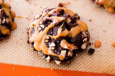 Chocolate Turtle Cookies.