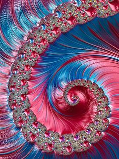 I love creating fractal spirals. This combination of colours looks red in some light and dark pink in others. Red And Pink, Pink Blue, Huawei Wallpapers, Blue Poster, Beautiful Flowers Wallpapers, Dot Art Painting, Diamond Art, Leaf Art, Cellphone Wallpaper