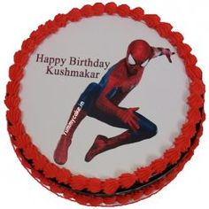 Book your order for Spiderman cake, cartoon cake form Yummycake at best price in Delhi NCR with Free home delivery. Call us on Cartoon Birthday Cake, Spiderman Birthday Cake, Spiderman Theme, Superhero Theme Party, Novelty Birthday Cakes, Cool Birthday Cakes, Birthday Party Themes, Happy Birthday, Spiderman Cake Topper