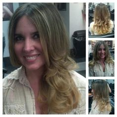 Beautiful blonde ombre
