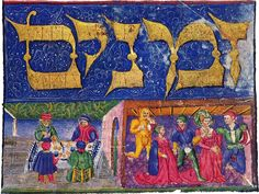 Miniature from a manuscript of Maimonides' Mishneh Torah, c. 1470