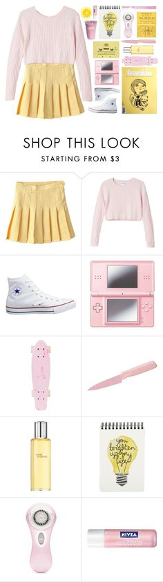 """""""☼ i know your eyes in the morning sun ☼"""" by i-smell-grunge ❤ liked on Polyvore featuring Monki, Converse, Nintendo, CASSETTE, Kuhn Rikon, Hermès, Clarisonic, Nivea, Supersmile and yellow"""