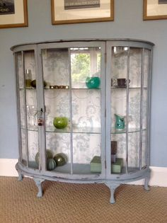 Charmant FREE LOCAL DELIVERY   Duck Egg Blue Glass Display Cabinet