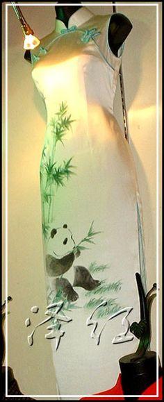 Handpainted cheongsam SQH15 - Custom-made Cheongsam,Chinese clothes, Qipao, Chinese Dresses, chinese clothing,EFU Tailor Shop