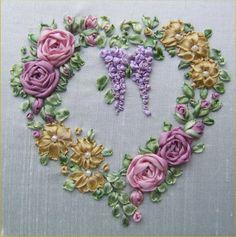 Cinta de seda bordado PP9 victoriano rosas y por lornabateman22
