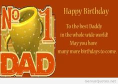 Happy Birthday Greetings For Dad Wishes In