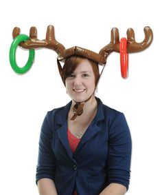 61e75f0184a Brown Inflatable Reindeer Ring Toss Hat