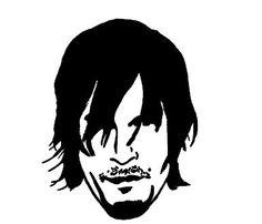 Walking Dead Daryl Dixon silhouette t shirt by Niwid on Etsy, $15.00