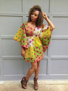 The Vivian Dress Ankara Butterfly Dress by ItsArchel ~African fashion, Ankara… Ankara Short Gown Styles, Short African Dresses, Short Gowns, African Print Dresses, African Prints, Kente Styles, Dress Styles, African Fashion Ankara, African Print Fashion