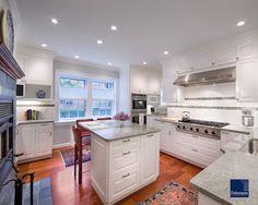 Classic Kitchen - traditional - kitchen - boston - Feinmann, Inc.- pinned because I like the island set up