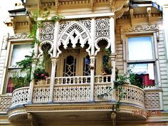 Balcony of an old manor house in Istanbul