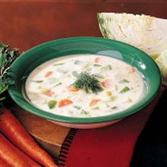 Cream of Cabbage Soup This soup is so good!  My Mom gave me this recipe years ago.