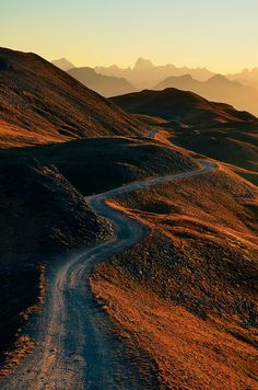 The winding road...