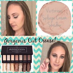 Gorgeous Cut Crease this Younique Presenter created with Victorious Splurge Cream Shadow & Addiction Shadow Palette #1!   #Younique #ClickImageToShop #Questions #EmailMe sarahandbrianyounique@gmail.com or comment below