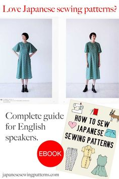 Don't speak any Japanese? No problem! Learn how to translate and sew Japanese patterns with the popular eBook, 'How to Sew Japanese Sewing Patterns'. You can download a free sample of the eBook at www.japanesesewingpatterns.com