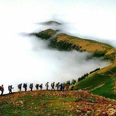 Amazing view of Dizab to Gasht-e Roudkhan climbing route Location: Guilan province