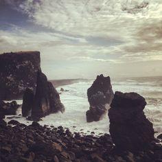 The ocean carving the rocks away at #reykjnesviti #reykjanes #iceland #icelandtravel #nature #travel #ocean