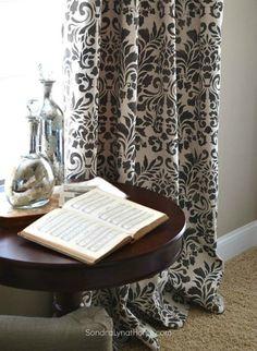 s 15 window curtain ideas for under 15, home decor, window treatments, Paint drop cloth into unique designs