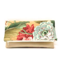 Mother's Day Gift Idea Foldover Clutch Purse Vegan by LMcreation