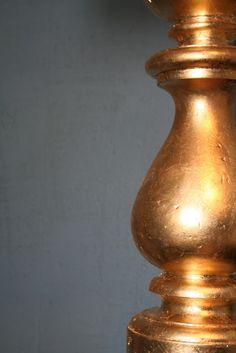 design dump: diy gold leafed lamp