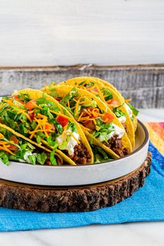 These are the best crunchy ground beef tacos! Bring home the taste of Americana with our homemade Taco Bell taco seasoning. The Taco Bell meat recipe is quick and easy to make. Assemble this easy meal in just 20 minutes. This DIY Taco Bell Taco Supreme is waiting to be added to your recipe arsenal. These beef tacos are ideal for taco night, Taco Tuesday, Cinco de Mayo, and weekday dinners all year long. They're also fantastic game day food. Pin it now to make it later!