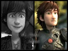 """Younger Hiccup meets Older Hiccup. From DeviantART. I love Hiccup's expression. It's like, """"This is ME? Huh, I could get used to this."""" lol XD"""