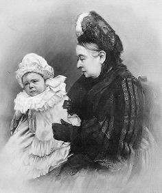 Queen Victoria with grandson Prince Alexander of Battenberg