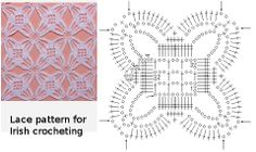 Lace pattern for Irish crocheting