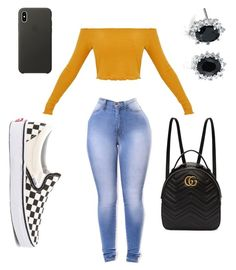 """Untitled #153"" by imfamousinla on Polyvore featuring Vans, Gucci, Apple and Blue Nile"