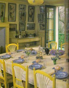 Le couvert en porcelaine bleue-blanche des dimanches Le rep Giverny, Artist Monet, Impressionist Artists, Pierre Auguste Renoir, Degas, Claude Monet, Impressionism, Table Settings, The Originals