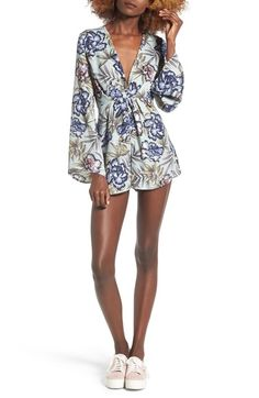 Lush Floral Print Romper available at #Nordstrom