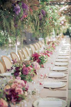 Al fresco garden wedding: http://www.stylemepretty.com/2017/01/10/one-bride-four-gowns/ Photography: Arrowood - http://arrowoodphotography.com/