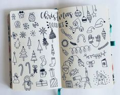 Everyone loves decorating for Christmas, so why not add a festive feel to your bullet journal or planner. Here are lots of cute Christmas doodle ideas you can draw!