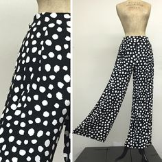 Hi Waist Palazzo Pant - Full Length - Crazy Comet - French Rayon Crepe Vintage Inspired Fashion for your Everyday Life. Made in California, USA - Since 1992