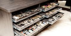"Mary Alice Stephenson's jewelry confession: ""When I'm exhausted and feeling the opposite of pretty, I pop on a pair of earrings so no one will look at my face. They just see all that pretty on my ears."" #jewelry #organization #storage"