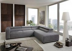 """Dreams4Home Ecksofa """"Arasto"""" - Ecksofa, Couch, L-Form, Recamiere rechts oder links, Rückenlehne einzeln verstellbar, Sofa, Wohnzimmer, Polstergarnitur, Gästezimmer, Wellenfederung, Stellmaß BxT: 281 x 228 cm, in grau-anthrazit Möbel Sofas & Couches"""