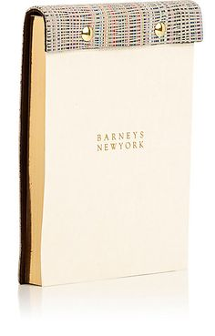 We Adore: The Striped Leather-Bound Notepad from Barneys New York at Barneys New York
