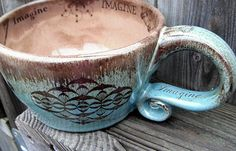 Imagine Oversized Coffee Mug Crop Circles Latte Mug mint chocolate Snack Bowl IN STOCK handmade pottery Pottery Gifts, Pottery Mugs, Handmade Pottery, Coffee Love, Coffee Break, Coffee Shop, Coffee Drinks, Coffee Cups, Tea Cups