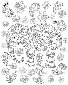 click for premium giveaways this page only limited time elephant coloring page for - Coloring Page Elephant Design